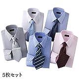 ワイシャツ 長袖 メンズ 形態安定 銀座・丸の内のOL100人が選んだ ワイシャツ&ネクタイセット カラー系 50405 10644(LL)