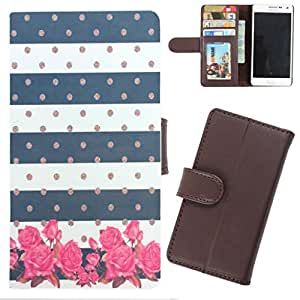 DooDa - For Karbonn A2 PU Leather Designer Fashionable Fancy Wallet Flip Case Cover Pouch With Card, ID & Cash Slots And Smooth Inner Velvet With Strong Magnetic Lock