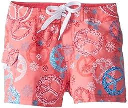 Kanu Surf Big Girls\'  Peace and Love Boardshorts, Pink, 16/X-Large