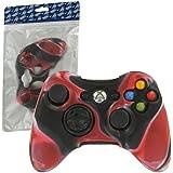 Housse de protection Assecure en silicone souple camouflage rouge pour étui de manette Microsoft Xbox 360 en caoutchouc absorbeur de chocs