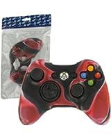 ZedLabz silicone cover for Microsoft Xbox 360 controller - protective skin rubber bumper case - camo red