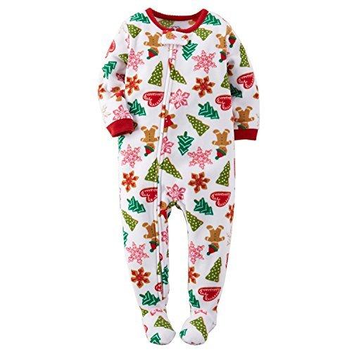 Carters Baby Girls Fleece Pajamas (18 Months, Holiday Cookie Print)