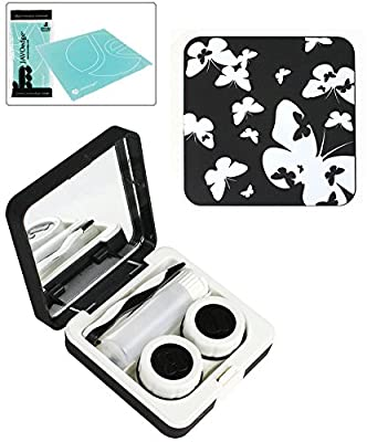 Butterfly Print Contact Lens Travel Kit