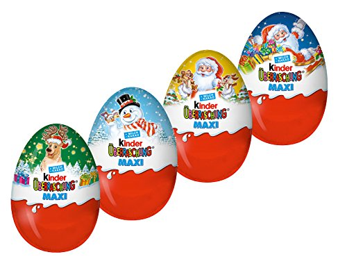 Kinder Surprise Maxi Christmas 100g (pack of 4)