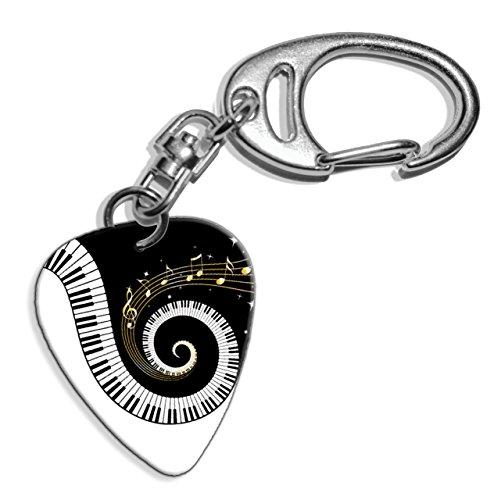 Piano-Keys-Music-Notes-Logo-Gitarre-Plektrum-Pick-Schlusselanhanger-Keyring-GD