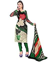Yehii Women's Cotton Beige Paisley dress material Unstitched Salwar Kameez Dupatta for women party wear low price Below Sale Offer