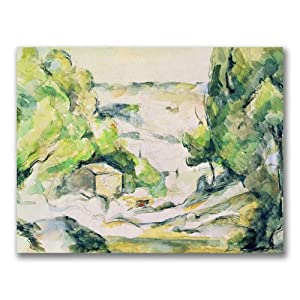 Trademark Fine Art Countryside in Provence by Paul Cezanne Canvas Wall Art, 24x32-Inch