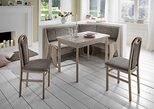 Dreams4Home-Eckbankgruppe-Tepic-Essgruppe-167-x-127-x-85-cm-Tisch-2-Sthle-modern-Sonoma-Eiche-Dekor-grau-beige-Eckbank-Kchentisch-4-teilig-Landhaus-Kche