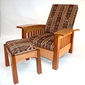 Build-Your-Own California West Bow Arm Chair & Footstool Plan - American Furniture Design ...