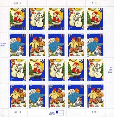 Holiday 2005 20 x 37 Cent U.S. Postage Stamps 2004