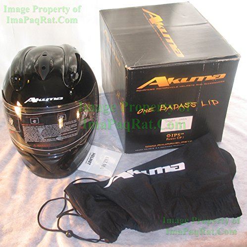 L Akuma Onyx Motorcycle Helmet With Built In Led Lights!