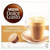 Nescafé Dolce Gusto Cortado Espresso Macchiato (Pack of 3, Total 48 Capsules)