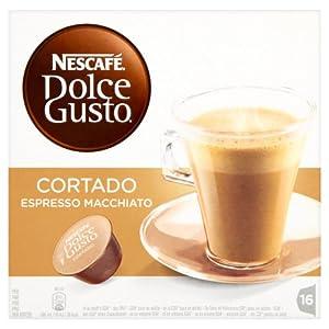 Nescafe Dolce Gusto Cortado Espresso Macchiato (Pack of 3, Total 48 Capsules)