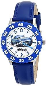 Disney by Ewatchfactory - W000086 - Montre Enfant - Quartz - Pédagogique - Bracelet Cuir Bleu