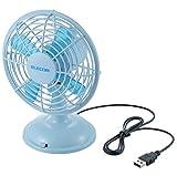 ELECOM USB扇風機 首振り機能 角度調整 風量調整 ブルー FAN-U36BU ランキングお取り寄せ