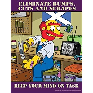 Simpsons Workplace Safety Poster - Keep Your Mind On Task: Industrial