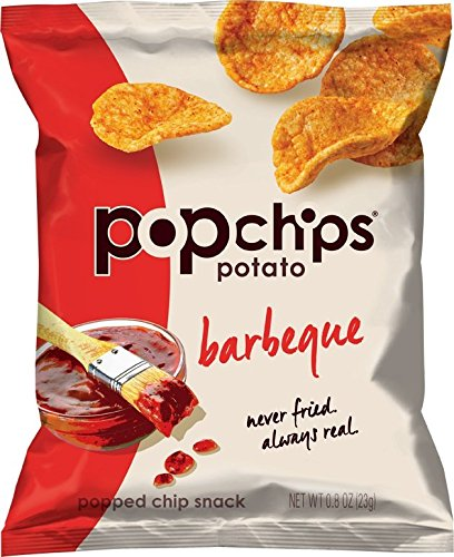 Popchips Potato Chips, BBQ, 0.8 Ounce (Pack of 24) (Pop Chips Tomato compare prices)