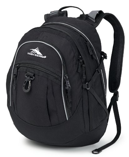 High Sierra Fat Boy Backpack (Black) front-991688