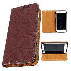i-KitPit PU Leather Flip Case For Samsung Galaxy Note 2 (BROWN)