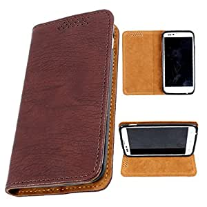i-KitPit PU Leather Flip Case For Micromax Canvas Turbo A250 (BROWN)