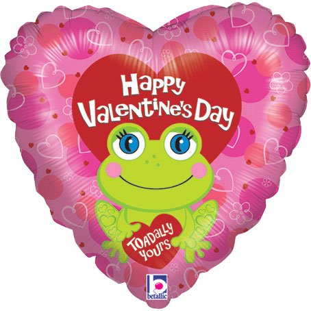 """Toadally Yours Valentine's Day Heart 18"