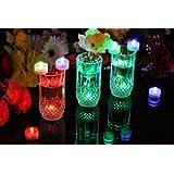 PK Green Bougies LED submersibles à couleurs changeantes, Lot de 10