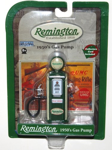 Two Tone Remington 1950's Die Cast Metal Gas Pump with Collectors Card (1 Each) by Gear Box