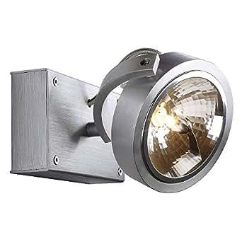 Amazon.com: SLV 147256 KALU 1 wall- and ceiling lamp alu brushed, 50W
