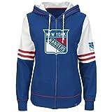 NHL New York Rangers Women's Turnbuckle Fleece, Deep Royal/White/Athletic Red, X-Large