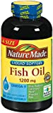 Nature Made Fish Oil Omega-three 1200mg, 300 Softgels