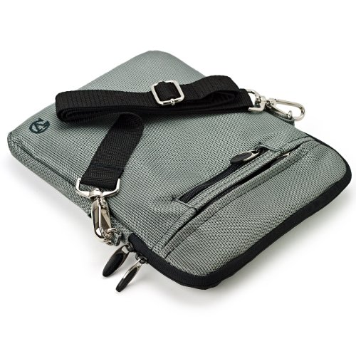 VG Hydei Edition Silver Nylon Protective Carrying Bag with Removable Shoulder Strap for Le Pan S S-BK / Le Pan TC 970 / Le Pan II 9.7-Inch Tablets
