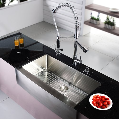 24 Inch Farmhouse Sink : ... inch Farmhouse Apron Single Bowl 16 gauge Stainless Steel Kitchen Sink