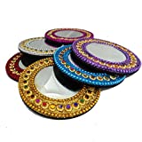 Decorative Mirrors Home Decor Beaded Material Handmade Table Top Assorted Mirrors Handheld Pocket Purse Glass...