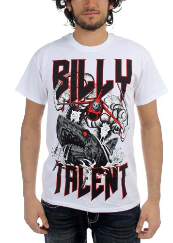 Billy Talent - Uomo Surprise Shark T-Shirt in Bianco, X-Large, Bianco