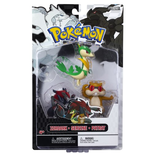 Pokemon Figure Multipack B&W Series #3 Servine, Patrat And Zoroark Picture