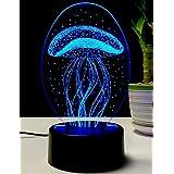 Lightingsky 3D Table Lamp Touch Control 7 Colors Night Light USB Desk Lighitng (Jellyfish)