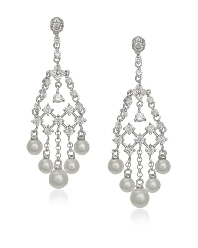 CZ by Kenneth Jay Lane Special Occasion Cubic Zirconia Chandelier Earrings