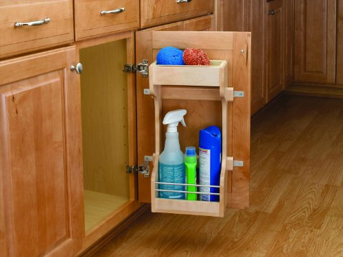 Rev-A-Shelf 4SBSU-18 Under Sink Storage Shelving System - Wood/Wire