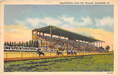 Amphitheatre, State Fair Grounds Springfield, Ilinois, IL, USA Old Vintage Horse Racing Postcard Post Card