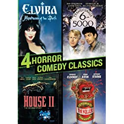4 Horror Comedy Classics (Elvira / Translyvania 6-5000 / Return of the Killer Tomatoes / House II)