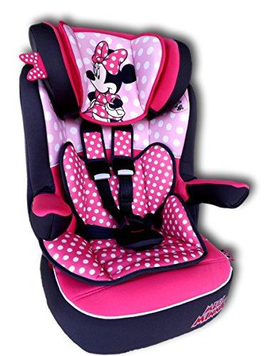 Disney i max Seggiolino Seggiolino Auto per Bambini Baby grup1/2/3-9-36kg Miss Minnie Dots * ADAC