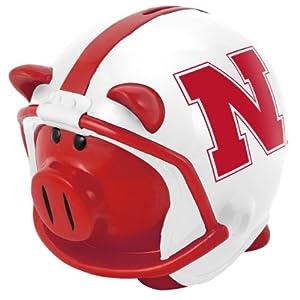NCAA Nebraska Resin Large Helmet Piggy Bank
