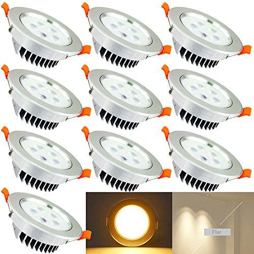 bieten Hengda® 10 pcs 5W LED Einbauleuchten set, 230v Dimmbar ...