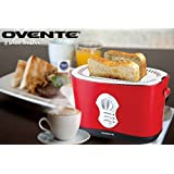Ovente 2250M 2-Slice Toaster, Matte Red