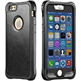 iPhone 6S Case, New Trent LV6 Rugged Protective Durable TPU iPhone 6S PU Leather case iPhone 6 and iPhone 6S - Color: Black - NOT Compatible with iPhone 6 Plus 5.5 Inch Screen
