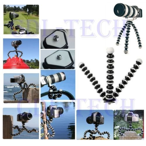 Small Octopus Flexible Tripod Bracket Stands for miniature Camera and DV (Miniature Brackets compare prices)