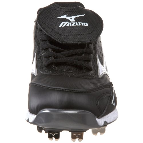 pictures of Mizuno Men's 9-Spike Vintage G6 Low Baseball Cleat,Black/White,11 M US