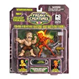 Freaky Creatures Series 1 Action Figure 2-Pack Cyclopor and Setsa