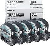 キングジム テープカートリッジ テプラPRO 24mm 5個 SS24K-5P 白