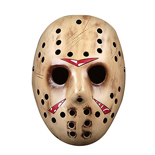 [Cideros Halloween Mask Collector's Edition Film Theme Resin Mask for Masquerade Costume Party Cosplay Gift ( Jason, Gold] (Ghost Face Collectors Edition Adult Costumes)